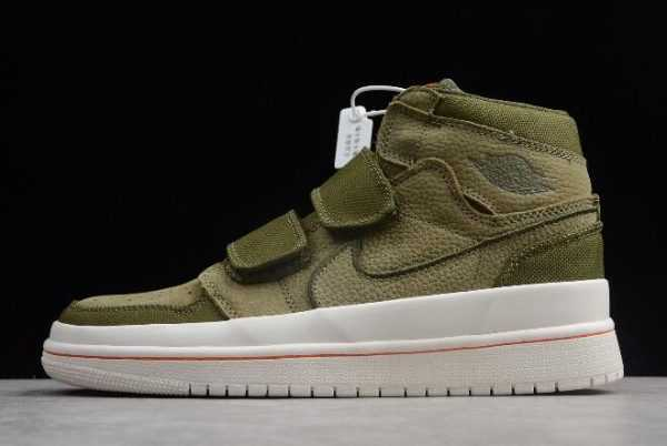 Buy Air Jordan 1 Retro High Double Strap Olive Canvas Shoes