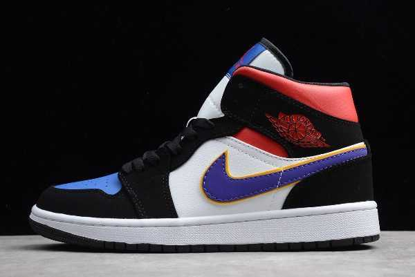 New Air Jordan 1 Mid SE ' ivals' Field Purple/White-Gym Red 852542-005