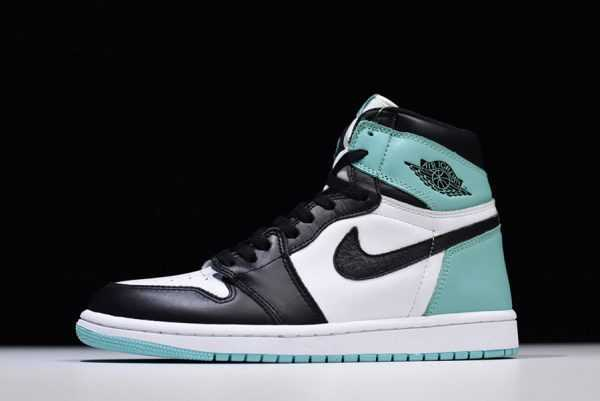 Men' s Air Jordan 1 Retro High OG NRG White/Igloo-Black 861428-100