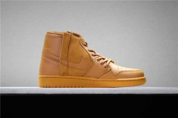 2018 Latest Air Jordan 1 Rebel Wheat/Flax AO1530-800 Mens Sneakers