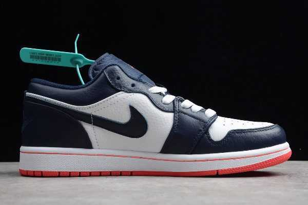 Buy Air Jordan 1 Low Obsidian/Ember Glow-White 553558-481