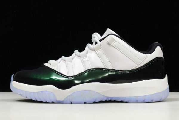 New Air Jordan 11 Low 'merald' White Black 528895-145