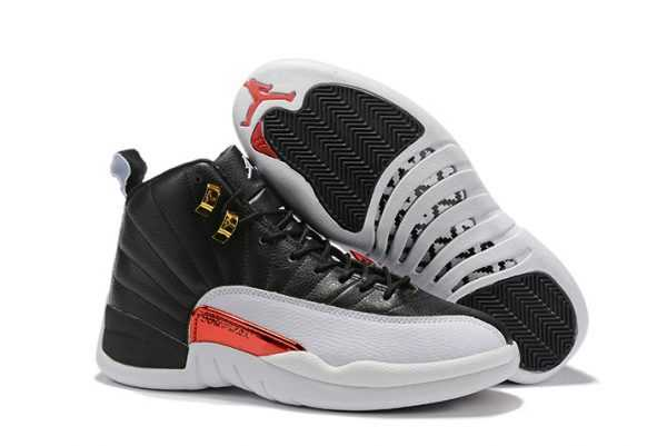 Air Jordan 12 ' everse Taxi' Black/Gold-White Free Shipping