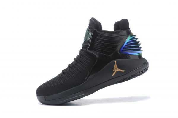 "New Air Jordan 32 ""PK80"" PE Black/Metallic Gold Men' s Basketball Shoes"