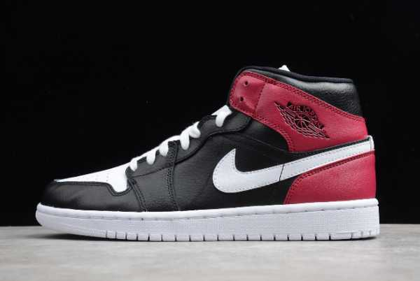 "Cheap BQ6472-016 Air Jordan 1 Mid ""Noble Red"" 2020 For Sale"