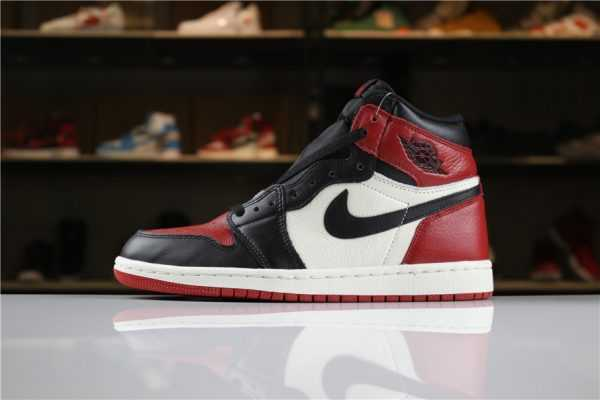 "Air Jordan 1 High OG ""Bred Toe"" Gym Red/Black-Summit White For Sale"