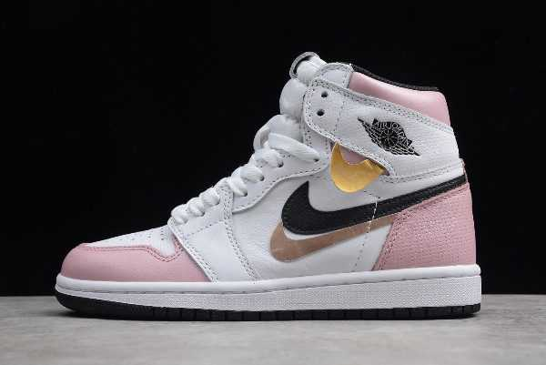 New Air Jordan 1 High White Pink-Black For Girls