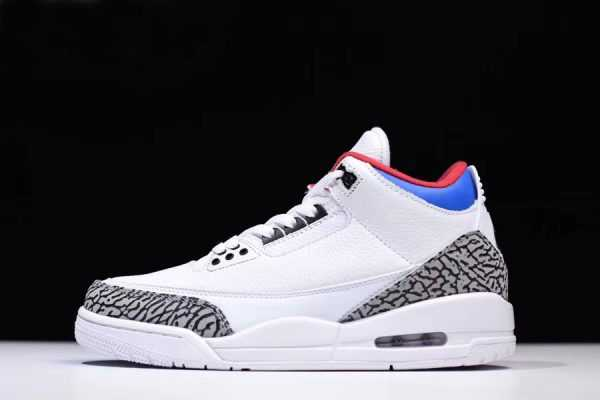 "Latest Air Jordan 3 NRG ""Seoul"" White/Soar-Atom Red AV8370-100"