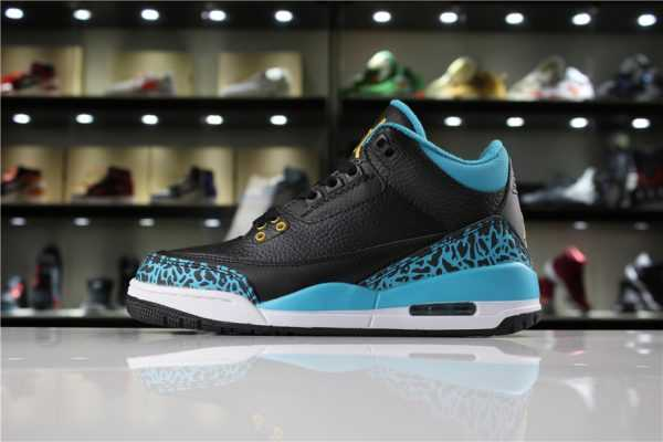 "Air Jordan 3 GS ""Rio Teal"" Black/Metallic Gold-Rio Teal-White 441140-018"