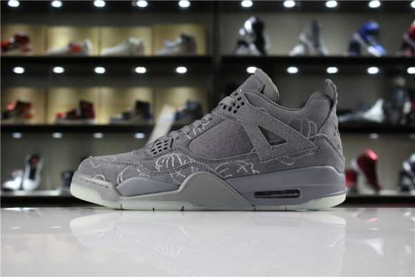 "KAWS x Air Jordan 4 ""Cool Grey"" 930155-003 For Sale"
