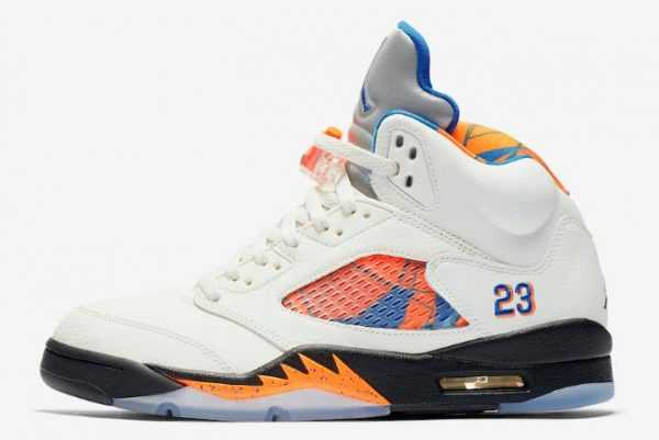 "Air Jordan 5 Retro ""International Flight"" Sail/Orange Peel-Black-Hyper Royal 136027-148"