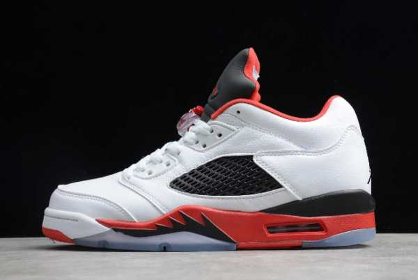 314338-101 Newest 2020 Air Jordan 5 Retro Low Fire Red For Sale