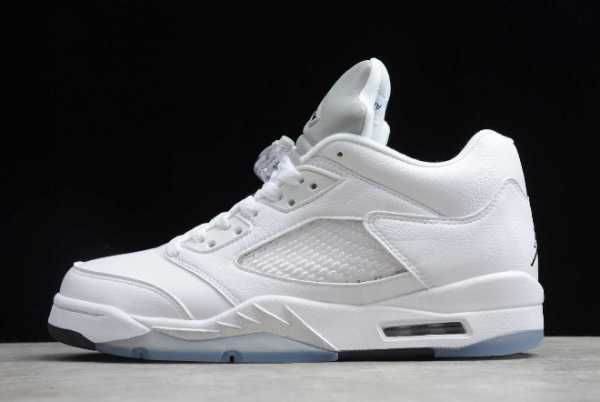 819172-122 Newest 2020 Air Jordan 5 Retro Low White/Wolf Grey For Sale