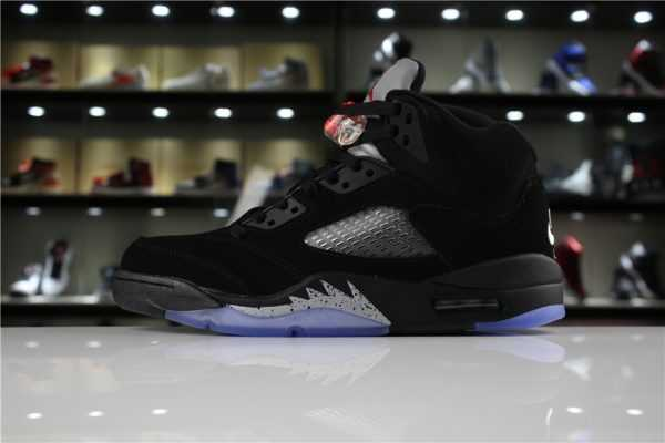 "Air Jordan 5 Retro OG ""Metallic Black"" Black/Fire Red-Metallic Silver 845035-003"