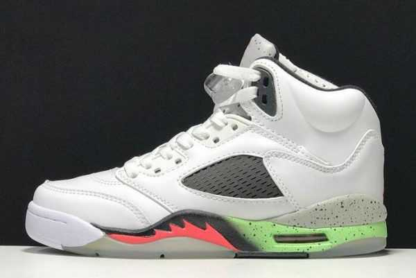 Buy Air Jordan 5 Retro ' roStars' White/Infrared 23-Light Poison Green-Black 136027-115