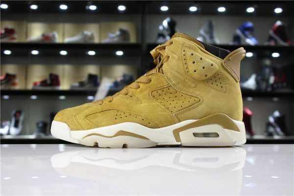 "Air Jordan 6 ""Wheat"" Golden Harvest/Elemental Gold 384664-705"